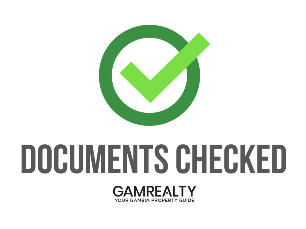 buy land in gambia with GamRealty documents checked label