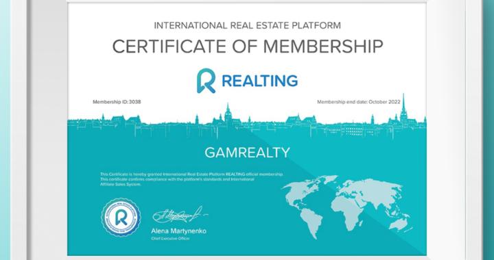 GamRealty Gambia Realting Certicate of Membership_sec